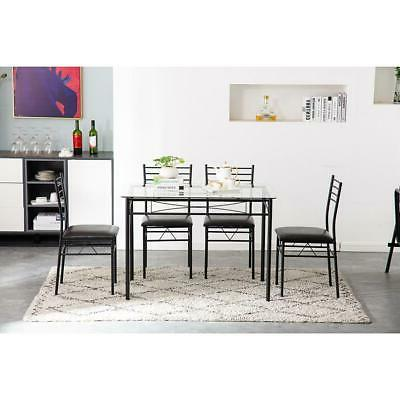 Hot 5 Piece Metal 4 Chairs