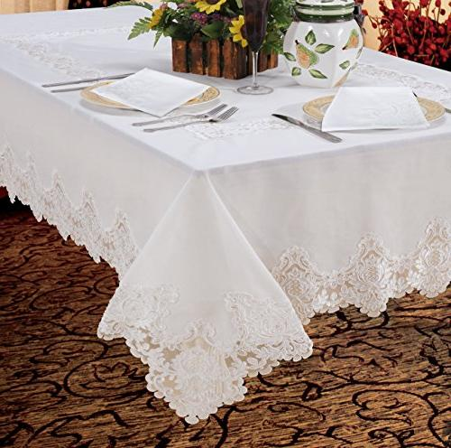 imperial embroidered vintage lace oblong