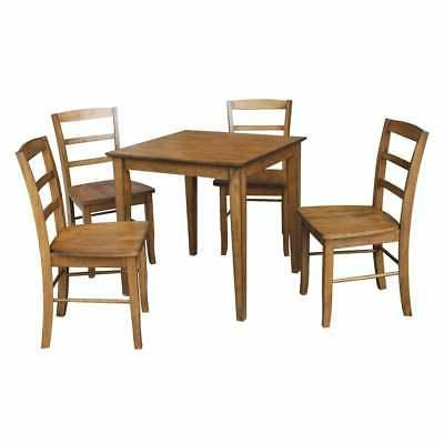"""International Concepts 30"""" x 30"""" Dining table with 4 Madrid"""