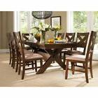 Roundhill Furniture Karven 9 Piece Wooden Dining Table Set