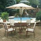 Home Styles Key West 7 Piece Round Outdoor Dining Set with U