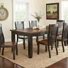 Kitchen Dining Room Set 7 Piece Table Chairs Cherry Modern F