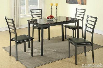 kitchen dining 5 piece faux leather set