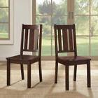 Kitchen Dining Chairs Farmhouse Solid Wood 2 Pc Set Mission