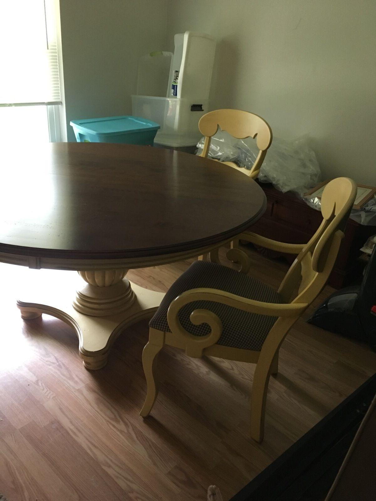 kitchen dining set Nichols and stone large round pedalstal t