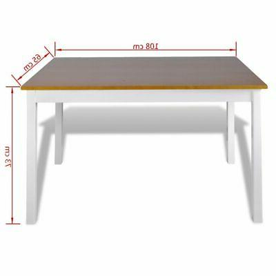vidaXL Kitchen Dining Set Wooden Furniture Table and