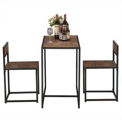 Kitchen 2 Chairs Set Space Saver Furniture NEW