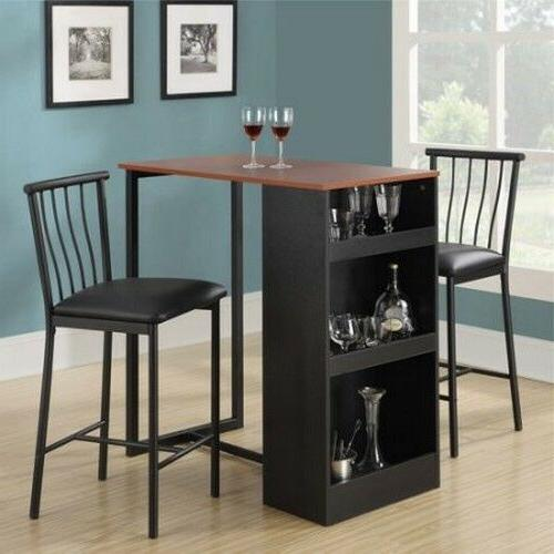 Counter Height Dining Set 3 Piece Kitchen Furniture & Chairs