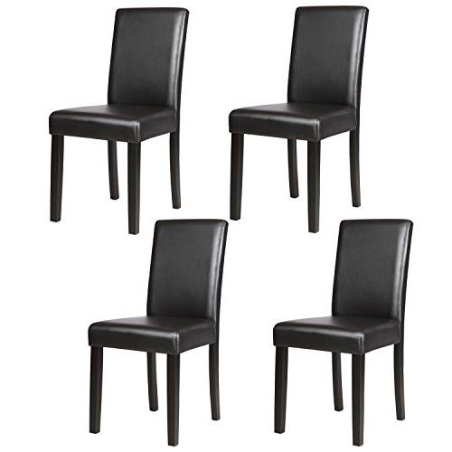 Mecor Chairs with Solid Legs Elegant Design Backrest,Set