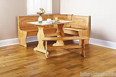 Kitchen Solid Corner Dining Table Bench L