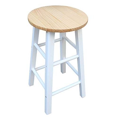 SSLine Island Table with Stools, Wood Drop Breakfast Table Chair, Kitchen On Wheels with Drawers White