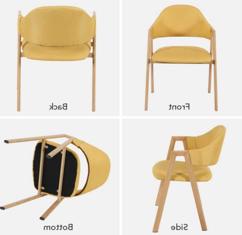 Round Table 4 Chairs for Kitchen Room Metal