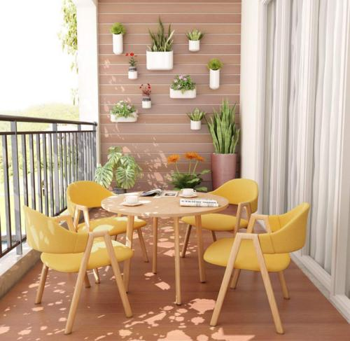 little tree dining set round table 4