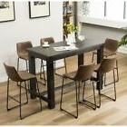 Roundhill Furniture Lotusville 7 Piece Bar Height Pub Table