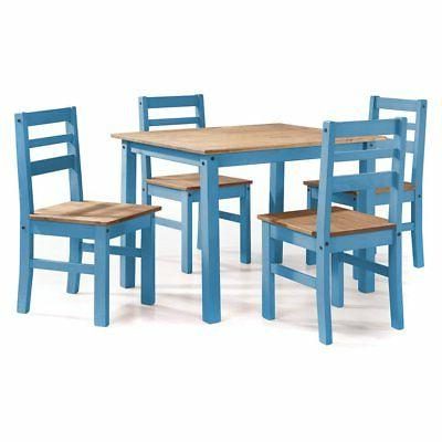 Manhattan Comfort Maiden Dining Table Set with 4 Chairs