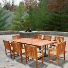 Malibu Outdoor 9-piece Wood Patio Dining Set with Extension