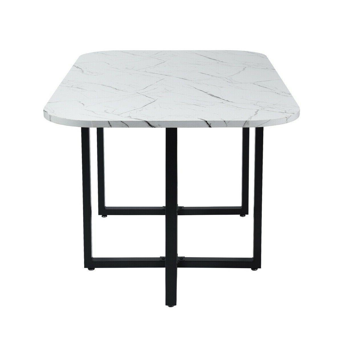 Marble 7 Table Chairs Kitchen Room
