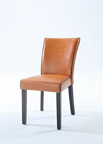 meadow bonded leather parsons chair