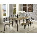Furniture of America Milland 7 Piece Industrial Farmhouse Di