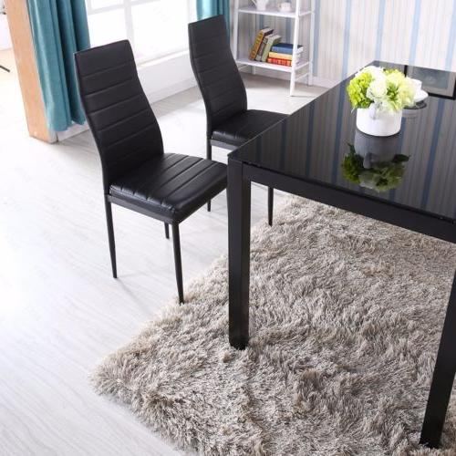 5 Dining Glass Metal 4 Room Furniture