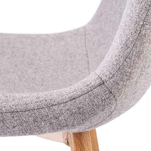Giantex Dining Side Set of 4 Metal Fabric Cushion Seat Home Room Furniture