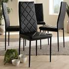 Modern Faux Leather Dining Chair 4-Piece Set By Baxton Studi