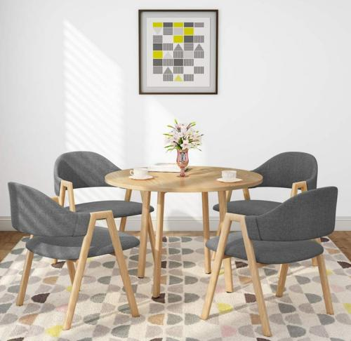 5 Piece Pine Wood Dining Table and Chairs Dining Table Set K