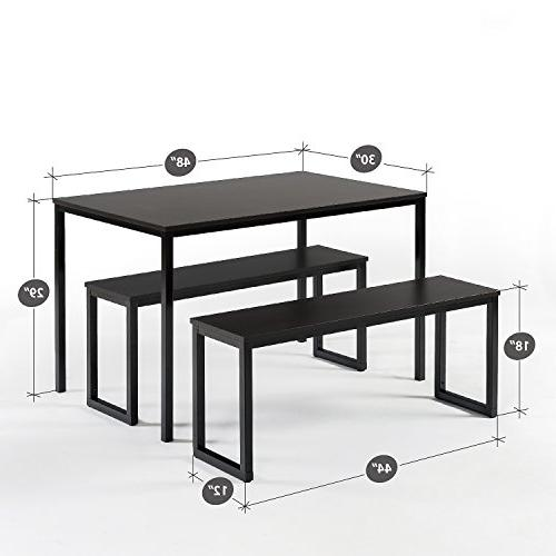 Zinus Modern Studio Collection Dining with Two 3 piece set,