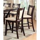 mullican counter height leatherette dining chair set