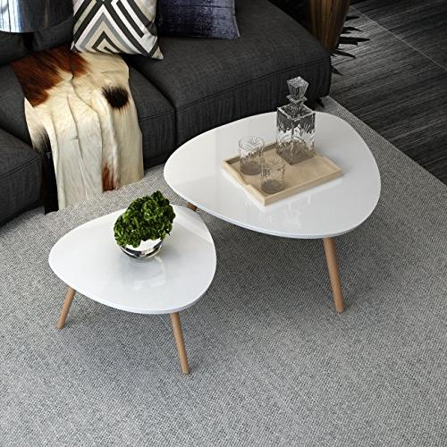 INLYF Nesting End Tables, Corner Stacking Tea Table,