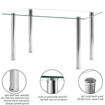 Hot Table Glass Metal Kitchen Furniture