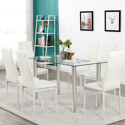 Hot Piece Dining Table Glass Room Furniture