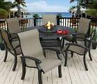 """OUTDOOR PATIO 6 PERSON DINING SET WITH 60"""" ROUND TABLE SERIE"""