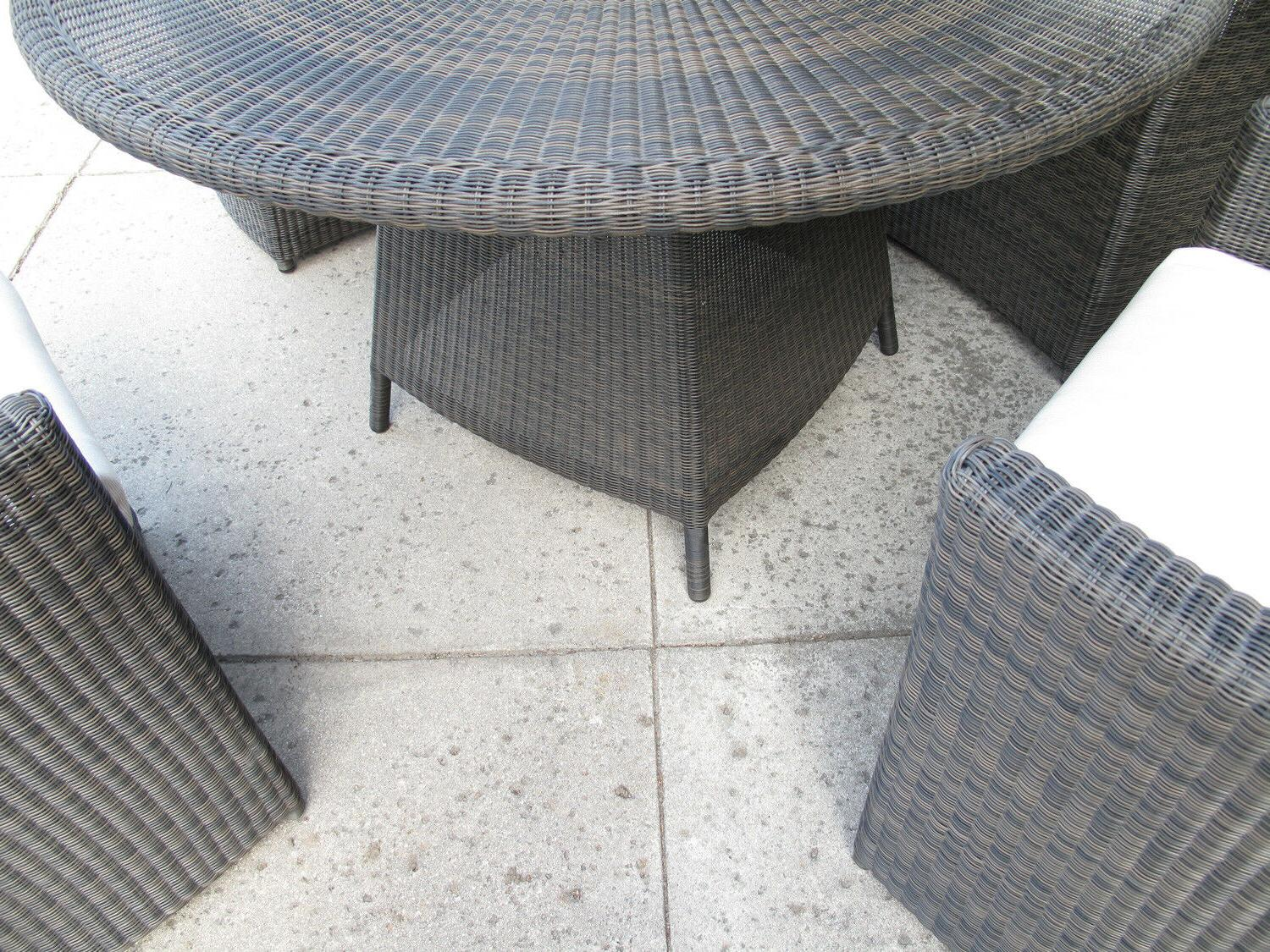 Outdoor Woven 5 Piece Round Dining Set