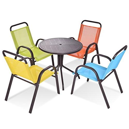 patio indoor pcs kids dining table chairs play set