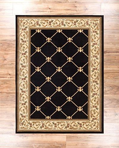 "Patrician Trellis French European Formal 8x10 (7'10"" x Area Easy to Clean Shed Thick Living Dining Room Rug"