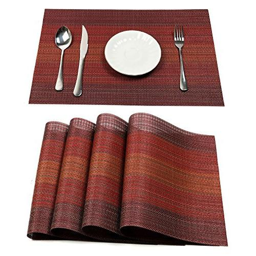 placemats heat insulation stain resistant