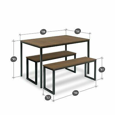 Priage Dining Table and 2 Bench