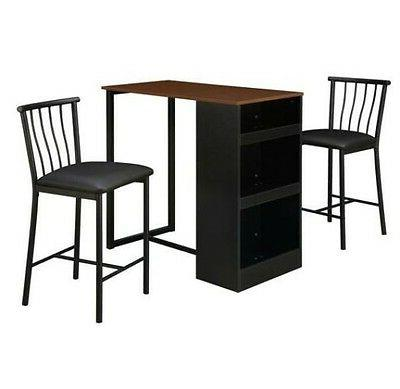 Pub Counter Kitchen Table Storage Dining Bistro Stools Nook