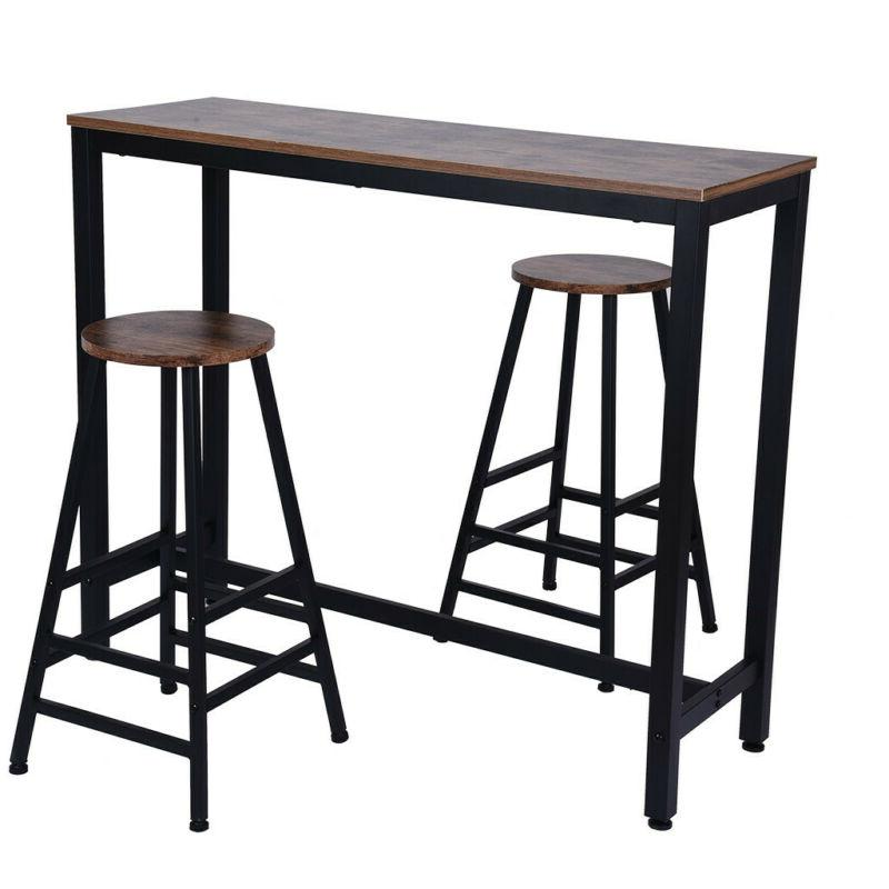 Pub Table Set Piece Bar Kitchen Furniture Chairs