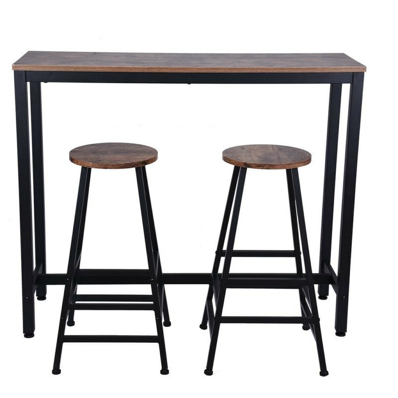 Pub Table Set Piece Bar Stools Dining Kitchen Chairs