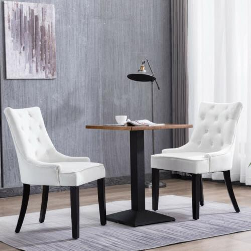Mecor Fabric Dining Chairs Set of 2,Leisure Padded Chairs wi