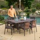 Rafael Outdoor 7-piece Wicker Dining Set by Christopher Knig