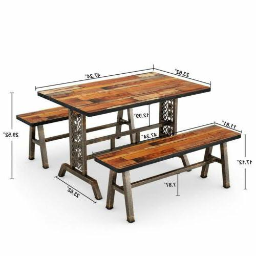 Tribesigns Dining Table Two 3 Dining Set Kitchen Set