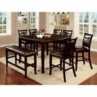 Furniture of America Ridgeway 8 Piece Counter Height Dining