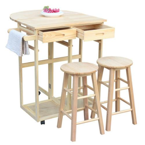 Kitchen Trolley Island Dining Table w/