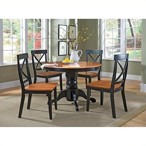 5 Dining Set Oak/Black