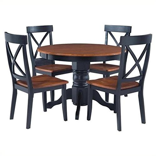 5 Pedestal Dining Set