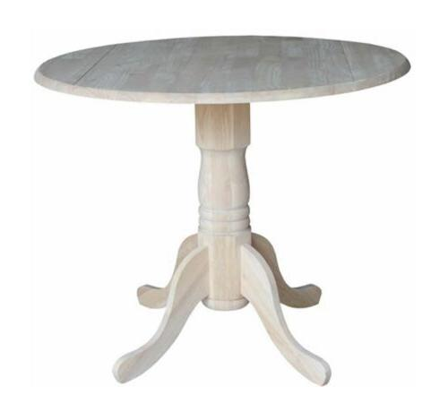 round pedestal dining table drop
