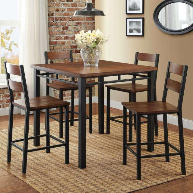 rustic dining table set high top counter